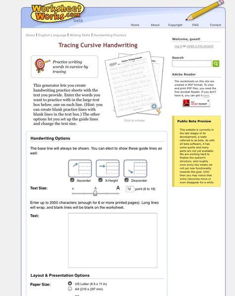 Create custom cursive writing worksheets!  http://www.worksheetworks.com/english/writing/handwriting/handwriting-cursive-trace-old.html