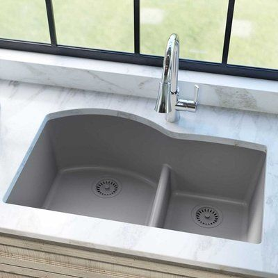Performa 33 L X 19 W Double Basin Undermount Kitchen Sink