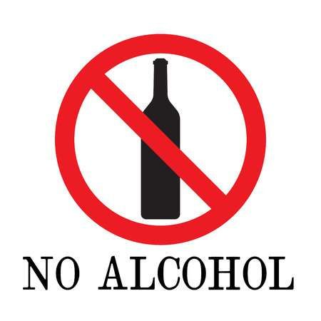 No alcohol drink sign. vector. logo element. No drinking sign,.. | No  drinking sign, Drink signs, Alcohol