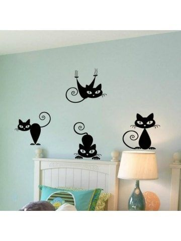 Cute Funny Cute Cat Wall Decal Sticker With Images Trendy Wall