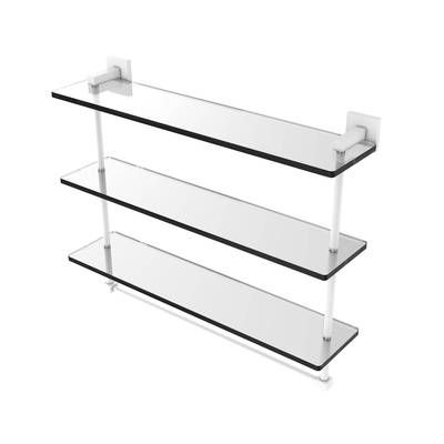 Everly Hart Collection Mirrored Floating Shelf Ledge Set Wall Shelves Silver