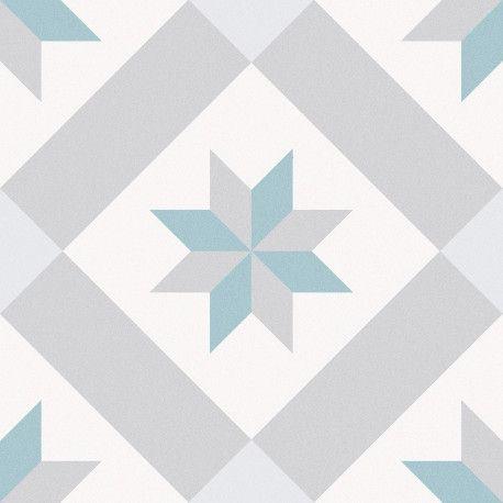 Carrelage Sol Et Mur Aspect Carreau Ciment Multicolore Bleu Vert