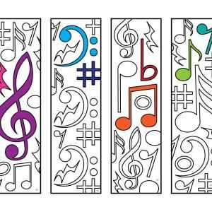 Coloring Page Bass Clef By Blackcatstitchcrafts On Etsy