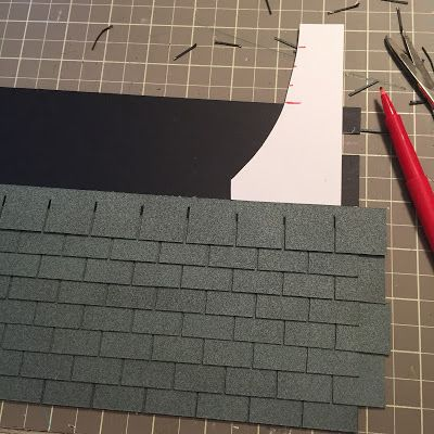 Dollhouse Roof Shingles The Kinfeld Roofing Diy House Roof Diy Dollhouse
