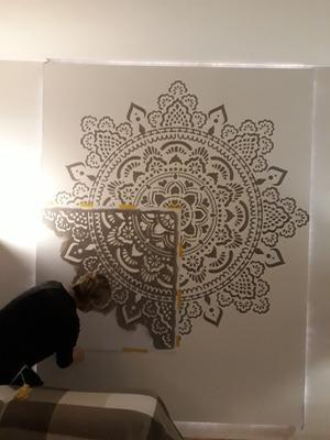 Big Wall Stencil Holy Mandala Made In Amsterdam 184x184cm 73