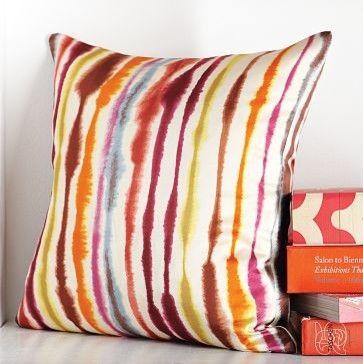 Tie Dye Stripe Pillow Cover | west elm