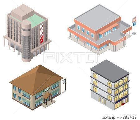 立体建物 店 画像あり イラスト 建物 建築設計図