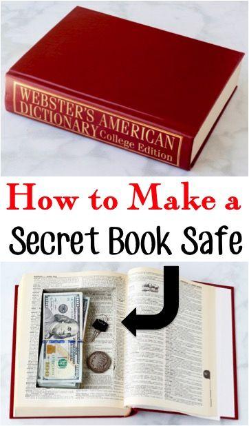 How To Make A Book Safe Secret Hidden Hollow Book Diy