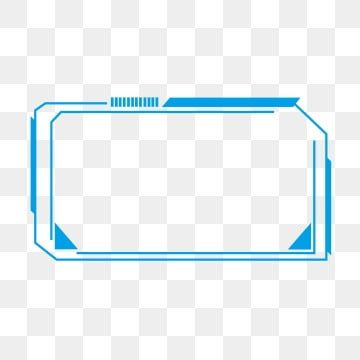 Minimalistic Line Blue Futuristic Technology Border Box Dialog Element Technology Border Simple Line Png Transparent Clipart Image And Psd File For Free Down Futuristic Technology Graphic Design Background Templates Background Banner