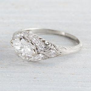 Image of .79 Carat Marquise Diamond Vintage Engagement Ring