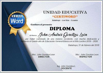 Diploma Editable En Word Saludos Esperamos Que Este Bien Bastante Bien Plantillas De Diplomas Editables Plantillas De Diplomas Diplomas De Reconocimiento