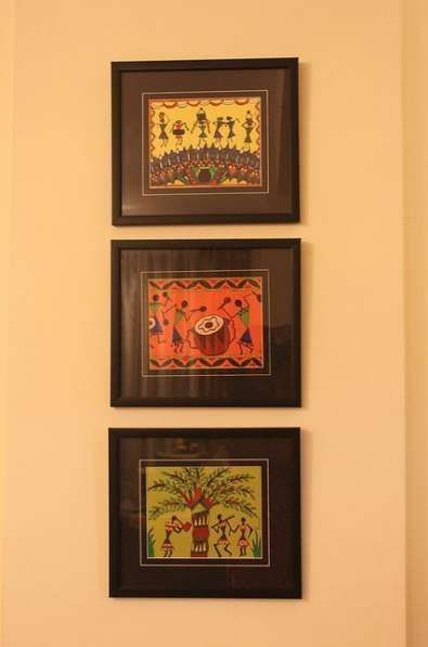 Trendy Kitchen Cabinets Colour Combinations Indian 33 Ideas Kids Canvas Art Worli Painting Big Canvas Art