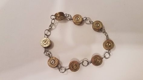 Brass or Silver Ammo Primer Cap Bracelet / Optional Charm Handmade Jewelry by SouthernOutlawCrafts on Etsy