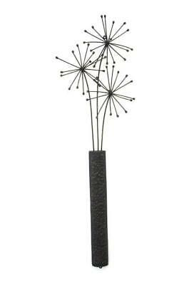 Metal Wall Art Vase With Trio Of Dandelions Wall Art Ebay With
