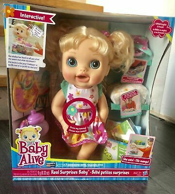 Baby Alive Real Surprises Doll Blonde New In Box Hasbro 2012 Rare Baby Alive Baby Alive Baby Girl Dolls Baby Alive Dolls