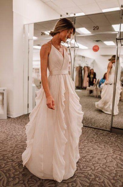 White By Vera Wang Bridesmaid Dress From David S Bridal Just Josie B Vera Wang Bridesmaid Dresses Davids Bridal Bridesmaid Dresses Wedding Dresses Vera Wang