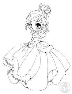 Coloriage Princesse Disney Kawaii