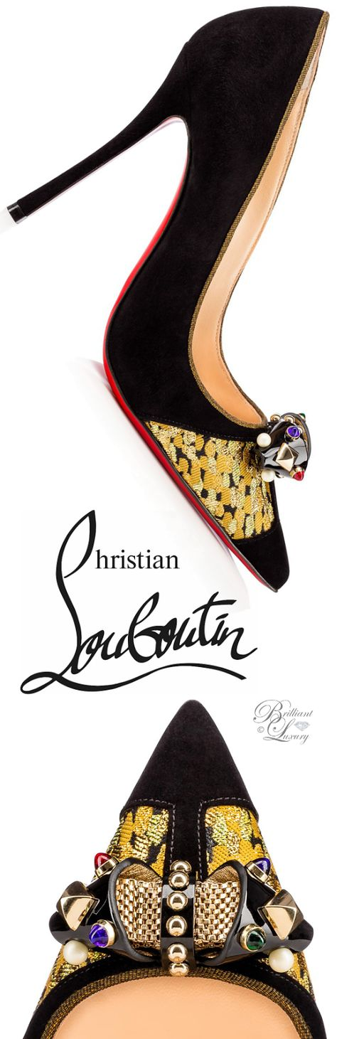 Brilliant Luxury by Emmy DE ♦Christian Louboutin Tudor Net Veau Velours FW 2016