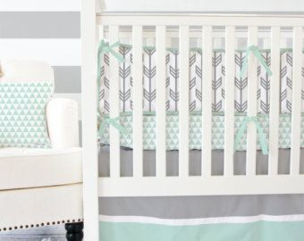 Gris Menthe Arrow Bebe Literie 2 Ou Ensemble De Literie De 3pc
