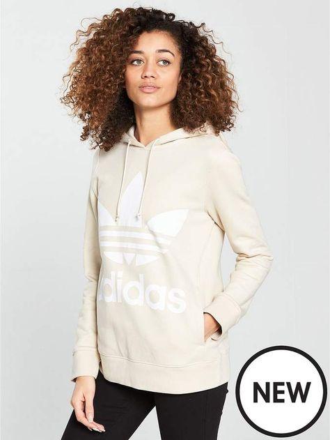 Adidas Originals Adicolor Trefoil Hoodie Linen | ADIDAS in