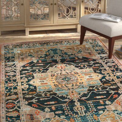 Bloomsbury Market Keener Blue Brown Area Rug Rug Size Rectangle 9 10 X 12 10 In 2020 Area Rugs Rugs Blue Brown