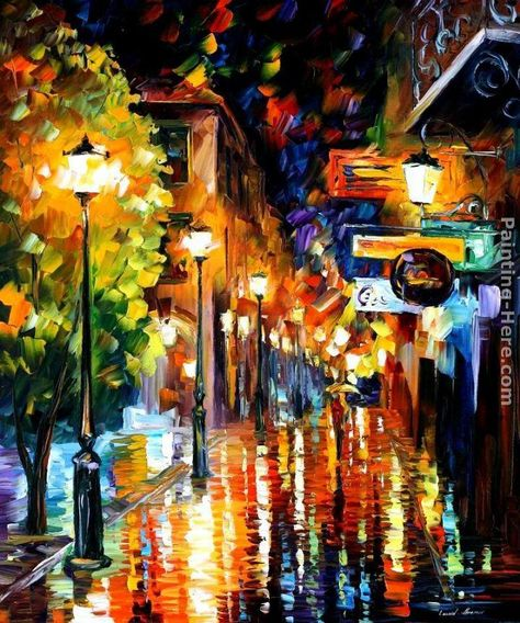 Leonid Afremov CITY painting