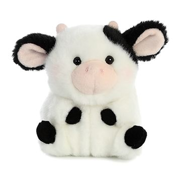 Daisy the Cow Stuffed Animal Rolly Pet by Aurora is a round little ball of adorable. Oh, we're making Daisy blush! This six inch stuffed cow… Cute Stuffed Animals, Cute Animals, Plush Animals, Inspiration Artistique, Cute Cows, Cute Plush, Cow Print, Plushies, Teddy Bear
