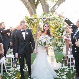 Wedding Recessional Photo Idea Bride Groom Walk Down The Aisle Beautiful Bride Events Wedding Costs Bride Wedding Recessional