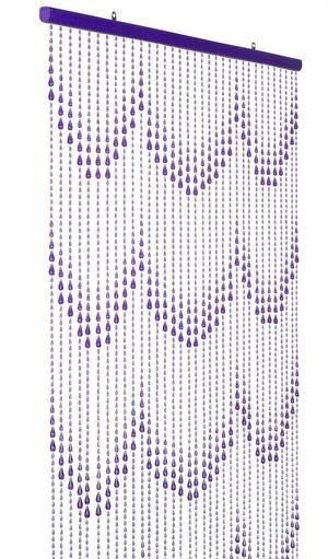 purple raindrop beaded curtain that
