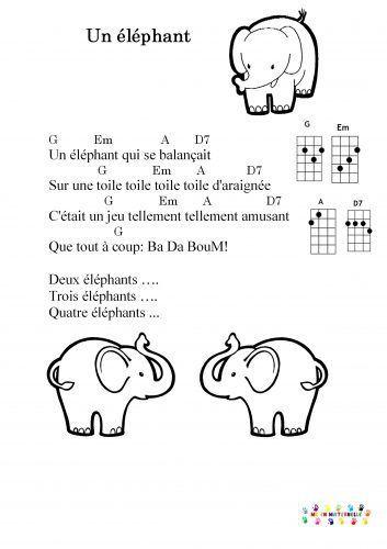 Un éléphant Qui Se Balancait : éléphant, balancait, Ukulele