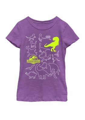 Jurassic Park Dinosaur World Graphic Kids Short Sleeve Cotton T-Shirt Tops DIY