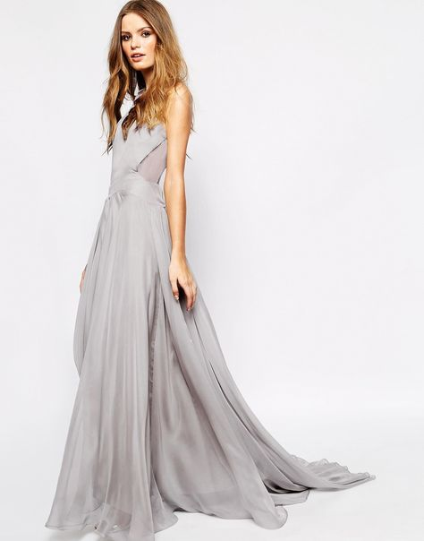 Image 2 ofFame and Partners Drama Queen Maxi Dress With Open Back