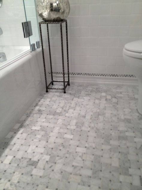 Pin By Lara Shore On Home Basketweave Tile Bathroom Marble Tile Bathroom Floor Marble Tile Bathroom