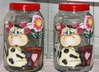 Hermosas Ideas Para Decorar Botellas Y Frascos Con Vaquitas Lodijoella Frascos Como Decorar Botellas Adornos Botellas De Vidrio