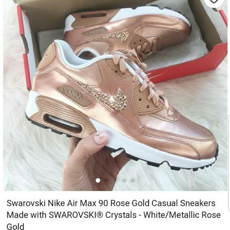tenis nike air max rose gold