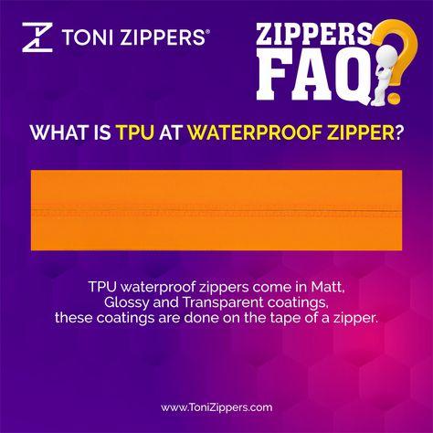 What is TPU at Waterproof Zipper?