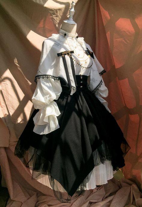 972b64321fe4c0 Miss Point Gothic Vintage Lolita Salopette
