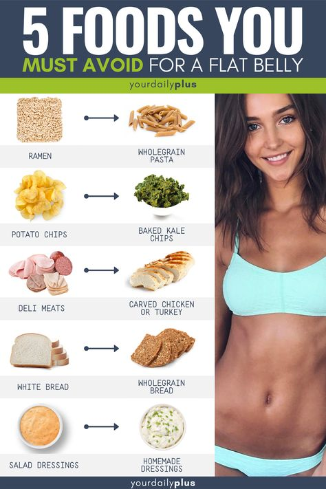 If you want a flat tummy and are trying to lose weight you MUST avoid these 5 foods!
