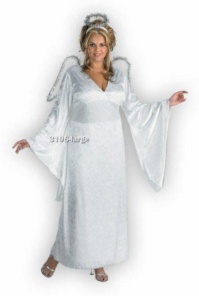 Angel Adult Value White Dress Plus Size Costume XL
