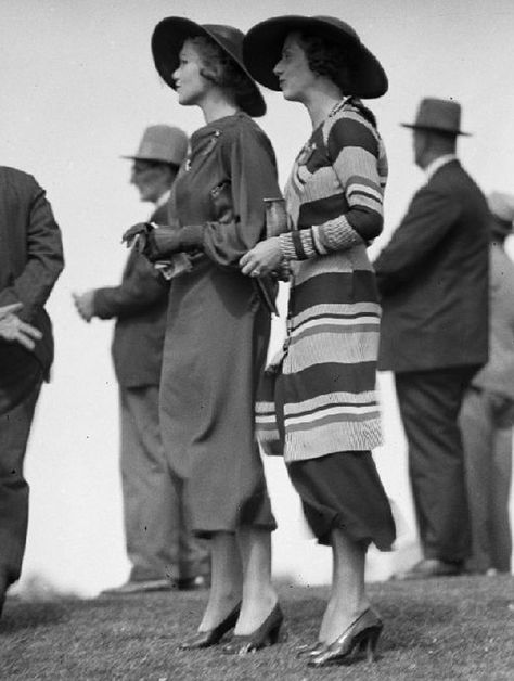 1930 daytime dresses were usually calf length.  Dresses got shorter when the Great Depression hit.