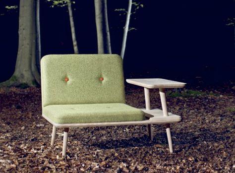 Danish laptop lounge chair
