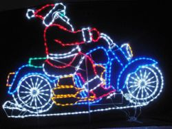 Wf Mcs Huge Motorcycle Santa Outdoor Christmas Decorations Outdoor Christmas Christmas Decorations