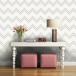 Wayfair Com Online Home Store For Furniture Decor Outdoors More Chevron Wallpaper White And Silver Wallpaper Removable Wallpaper
