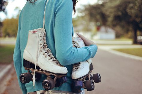Loved my roller skates!  Our Elementary School had skating in the large gymnasium on Saturdays.