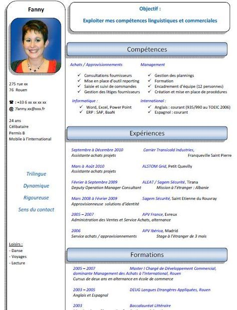 Exemple Cv Assistant De Direction Cv Anonyme Resume