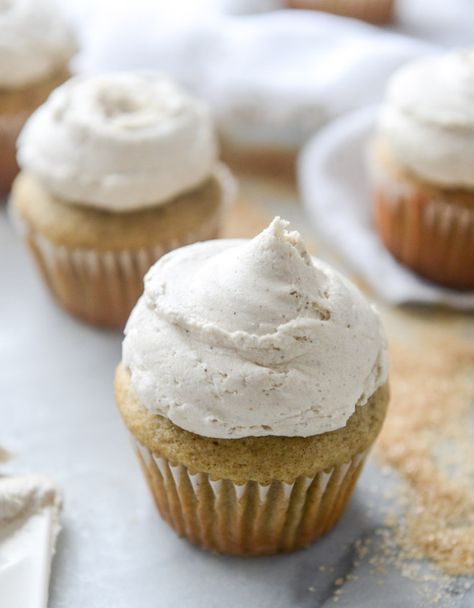 Chai Cupcakes with Brown Butter Chai Icing