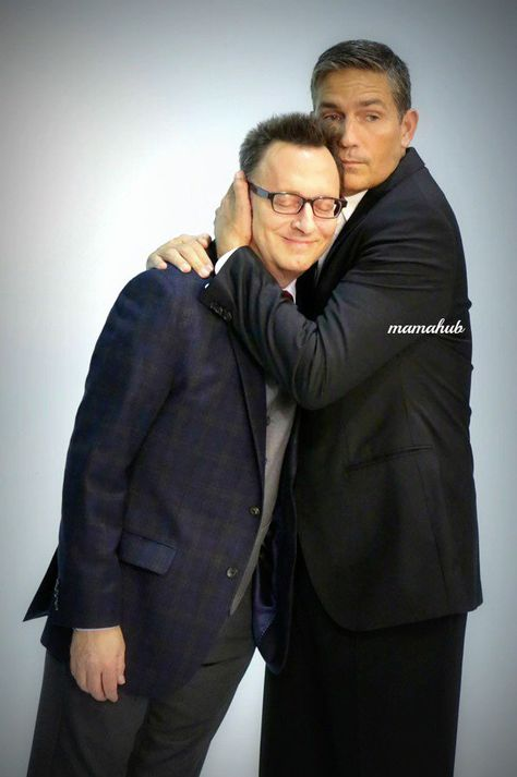 Awww!  Reese and Harold - Jim Caviezel and Michael Emerson from Person Of Interest