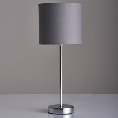 Wilko Milan Table Lamp Grey Image (With images) | Grey table