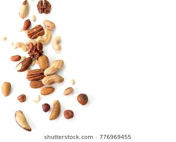 Background Of Nuts Pecan Macadamia Walnut Almonds Hazelnuts And Other With Copy Space Isolated One Edge Top View Or Flat Lay Macadamia Almond Food