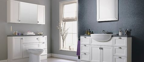 Storage Cabinets In A Bathroom Suite